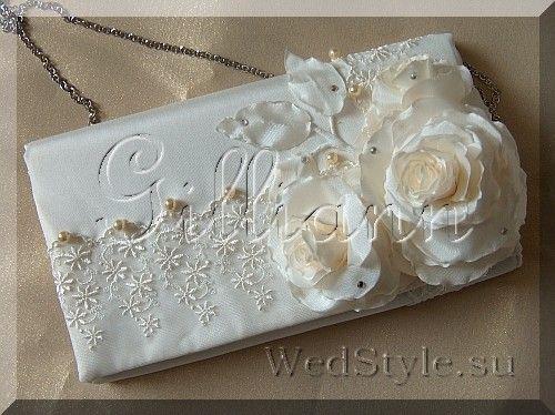 Свадебная сумочка клатч Gilliann Карлин Айвори BAG246 #weddingbag #weddingclutch