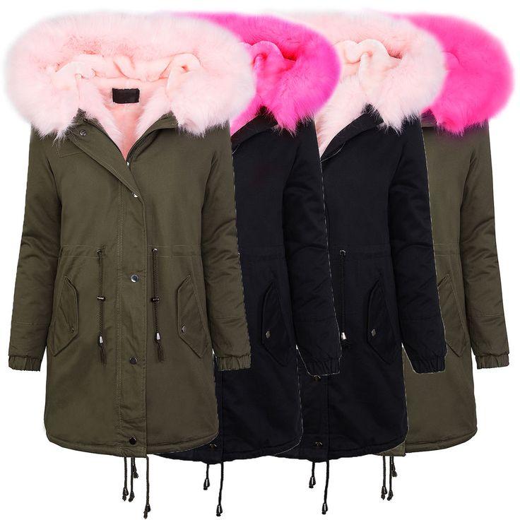 Hiver parka veste manteau des dames xxl col de fourrure veste femmes