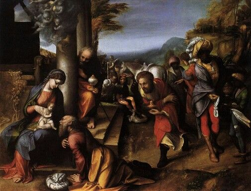 Adoration of the Magi by Antonio da Correggio