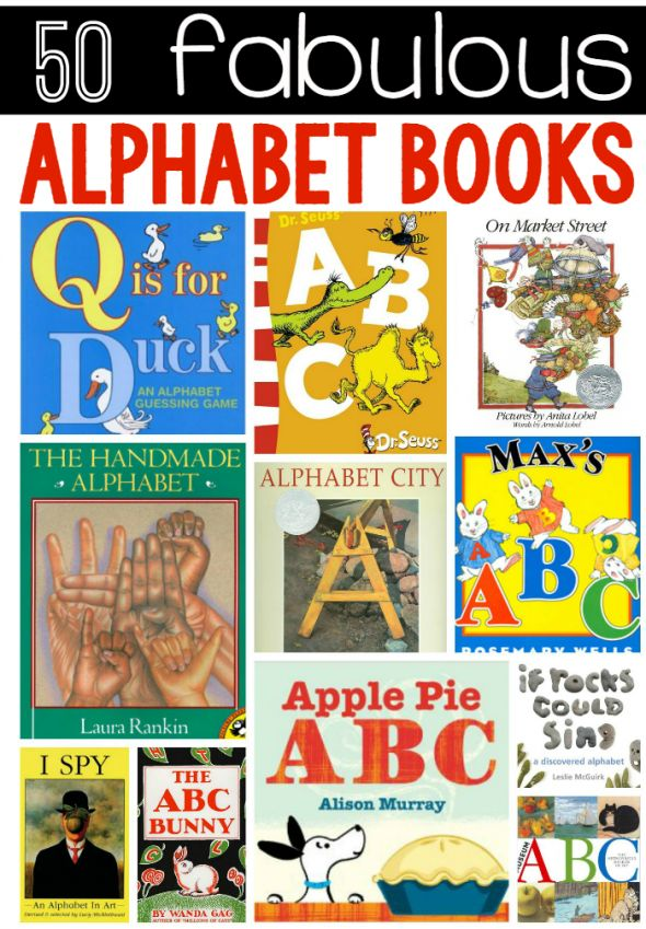 50 favorite alphabet books for kids. Motivating way to teach kids the ABCs.