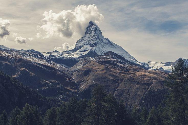 Маттерхорн, Гора, Альпы, Швейцария, Высокая, Пик, Вверх