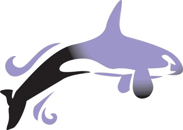 Whale Stencils Nursery