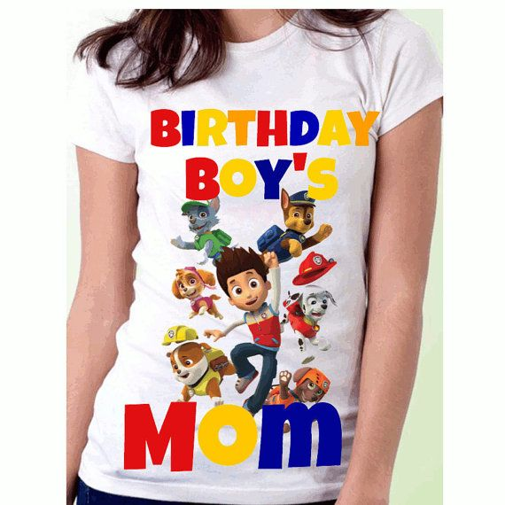 Paw Patrol Birthday Mom Shirt Parents Dad And By ImagineDreamsTrue