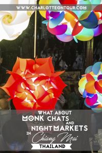 Chiang Mai, Thailand is one of the most beautiful and charming cities in Thailand! In this post you can find information about Monks Chats and Night Markets! Check it out and pin this if you like it! :D Thank you!