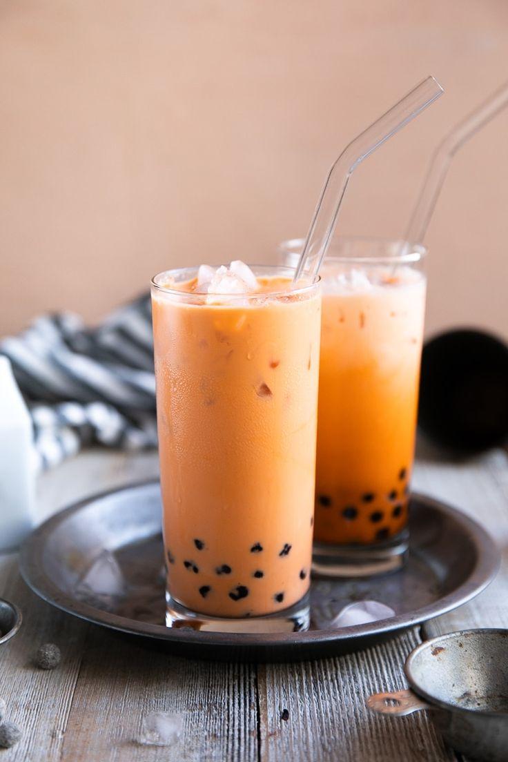 Boba Tea Recipe How To Make Thai Bubble Tea Recipe Boba Tea Recipe Bubble Tea Recipe Tea Recipes