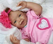 """MY LOVE! - Newborn 21"""" Collectors Life Like Pacifier Baby Girl Doll + 2 Outfits"""