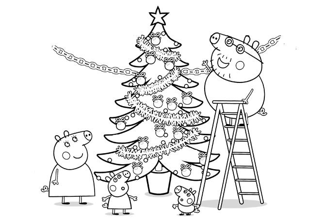 peppa pig coloring pages christmas peppa pig pigs and peppa pig colouring on pinterest