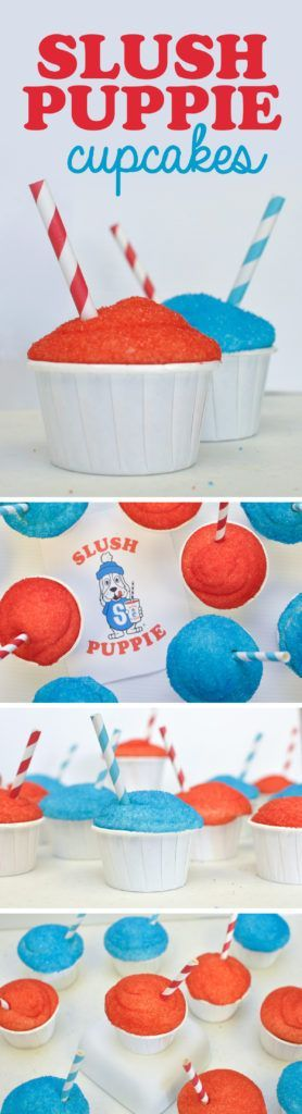 Slush Puppie Cupcakes by Awesome with Sprinkles