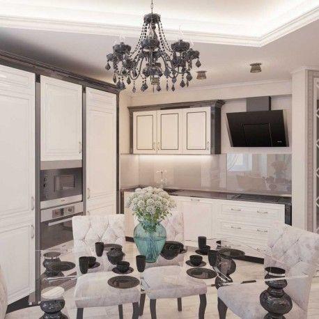 Lámpara de techo de la colección Contrast fabricada en metal y disponible en color blanco o marrón. Compuesta por siete puntos de iluminación con pebetero y bombillas en forma de vela (no incluidas) y colgantes de cristal decorando la estructura.