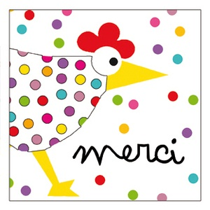 Awesome thank you cards, and more by Clémence Gouache from LA Boutique Clemence G 1.50 Euros.