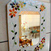 Passo-a-passo de moldura de espelho em mosaico