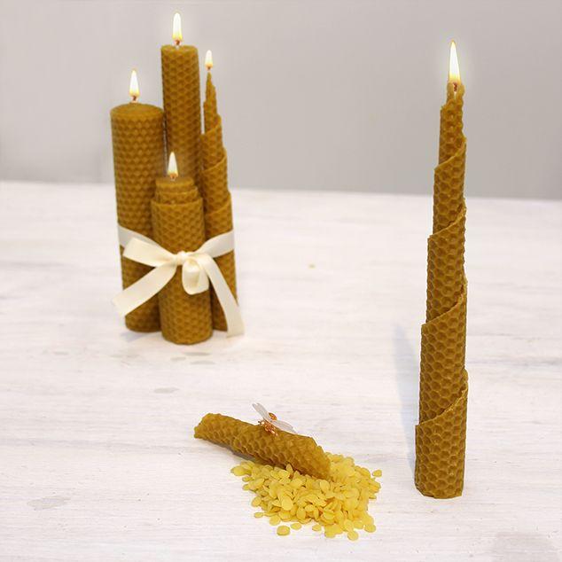 Hacer velas con cera de abeja