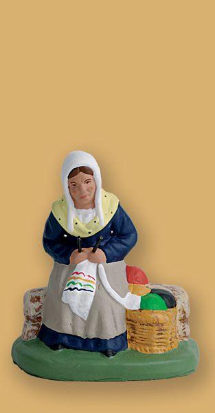 tricoteuse (santons escoffier)