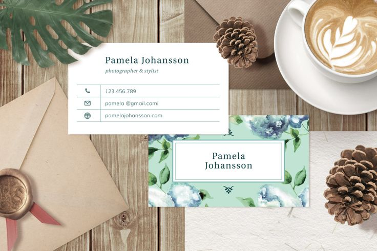 Business Card Template, Photographer Business Card, Photoshop Template for Wedding Photographer or Other Business, INSTANT DOWNLOAD - BC001 by BellenityDesign on Etsy