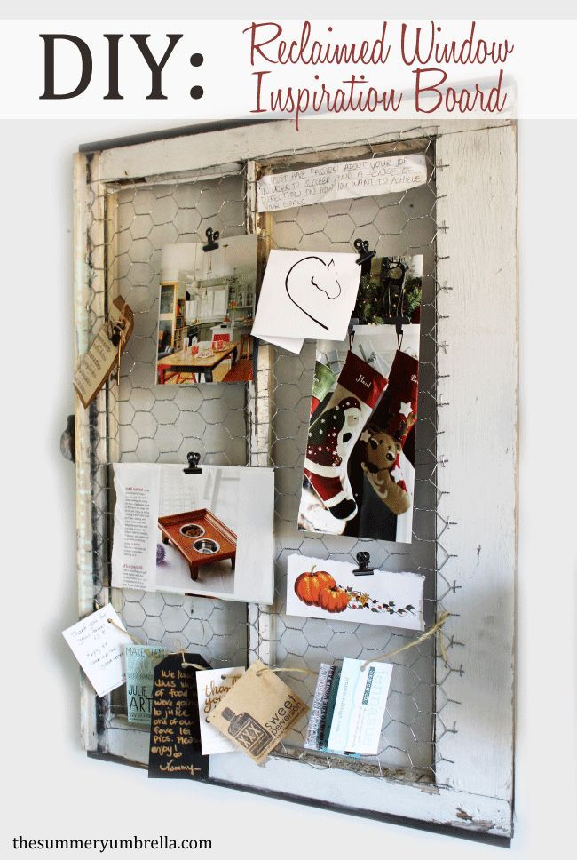 DIY Rustic Reclaimed Window Inspiration Board 583