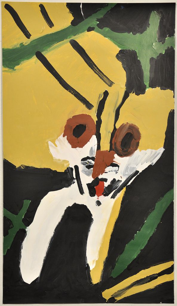 Patrick Francis  _Not titled (tiger)_ 2012 acrylic on paper 70x40cm Courtesy Arts project Australia