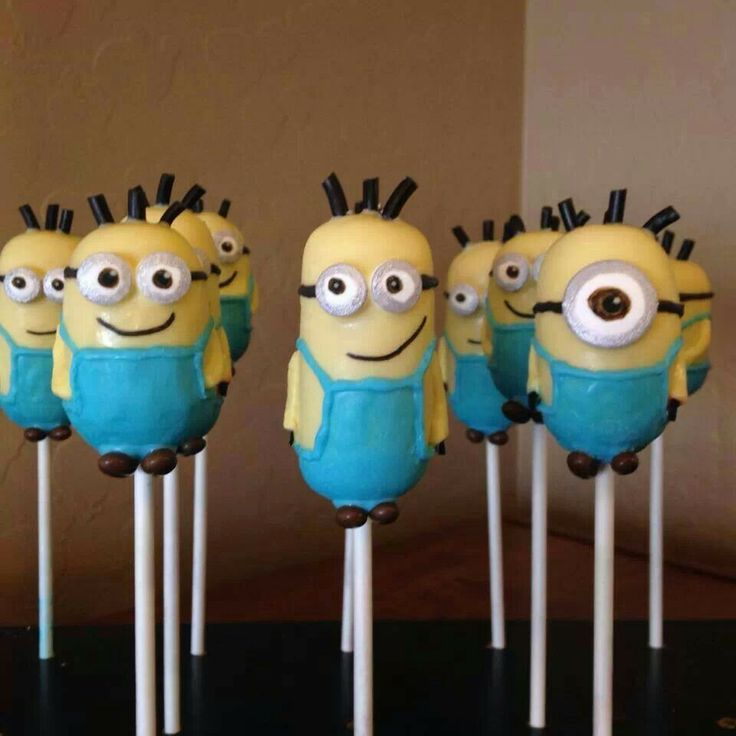 Images Of Minion Cake Pops : Minion cake pops Party Treat s/Fun Treat s Pinterest ...