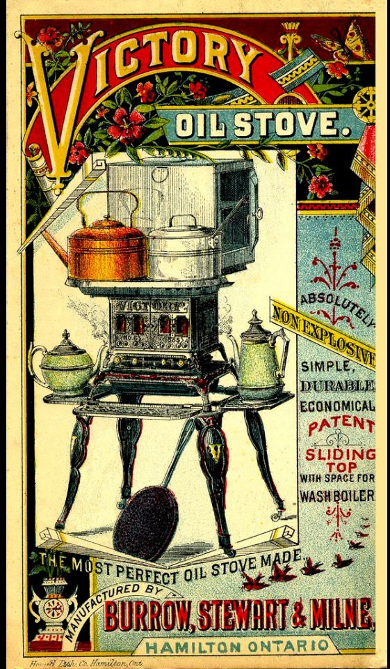 Victory Oil Stove - Victorian Trade Card