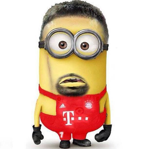 Ribery as a minion! This is how he looked when Ronaldo won the Ballon d'Or (and how he always looks :)