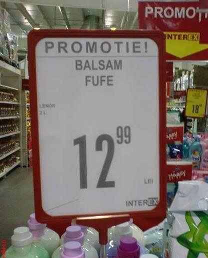 Promotie balsam.