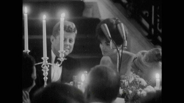 1962. 14 Septembre. President and Mrs. Kennedy (photo de Benno Grazianni ou image extraite d'un film, à déterminer)