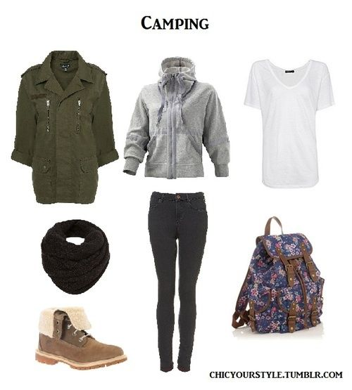 comfortable camping outfit- be lookin stylin while camping :D