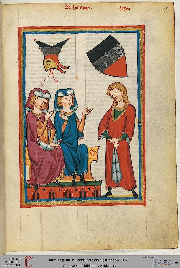 Cod. Pal. germ. 848: Große Heidelberger Liederhandschrift (Codex Manesse) (Zürich, ca. 1300 bis ca. 1340), Fol 290r