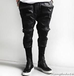 Cool Men's Multi Cargo Gothic Punk Rider Jeans Harem skinny casual Pants 29-35