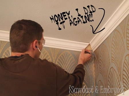 Living Room Crown Molding Reveal And Tutorial Part 1