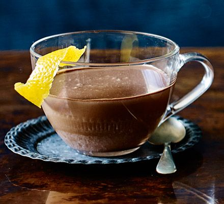 Enjoy the heavenly combination of citrus and chocolate in sumptuous drink form by whipping up this double cream-based dream