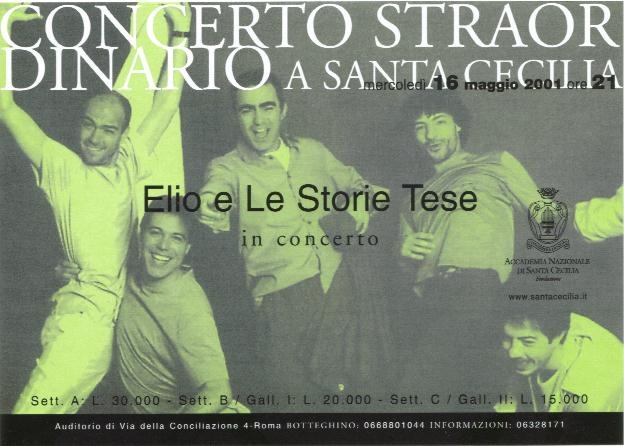 Elio e le Storie Tese, Auditorium Santa Cecilia, Roma, 17/5/2001