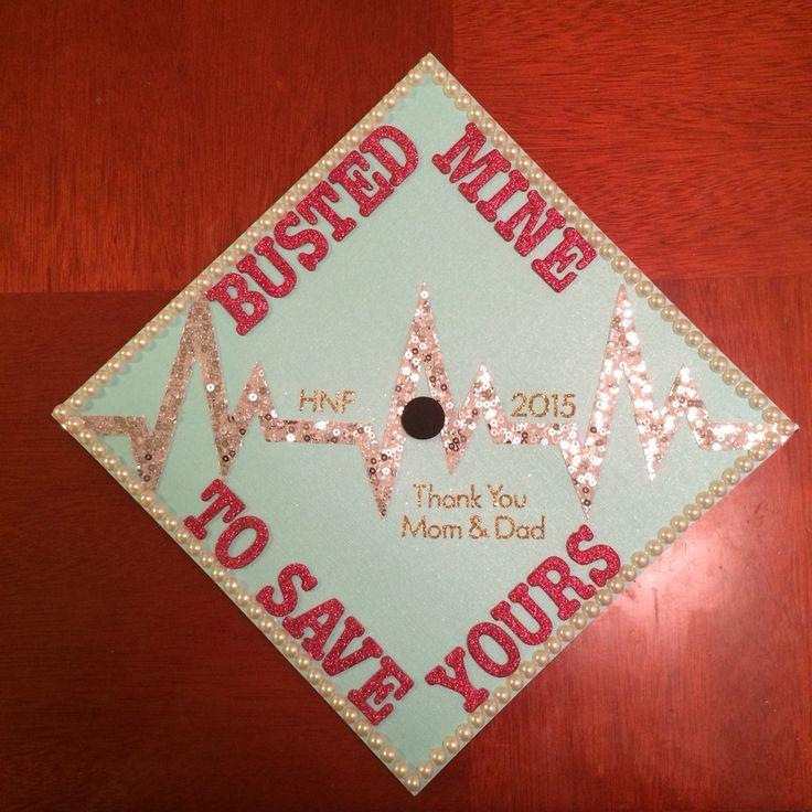 Graduation Cap Decoration | Biology / Health , Nursing. Check out that cool T-Shirt here:  https://www.sunfrog.com/Funny-nurse-T-Shirt-Black-Ladies.html?53507