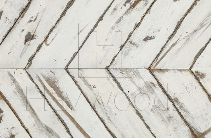 RECM4142 Graphic Reclaimed Solid Oak Chevron Painted Wood Flooring