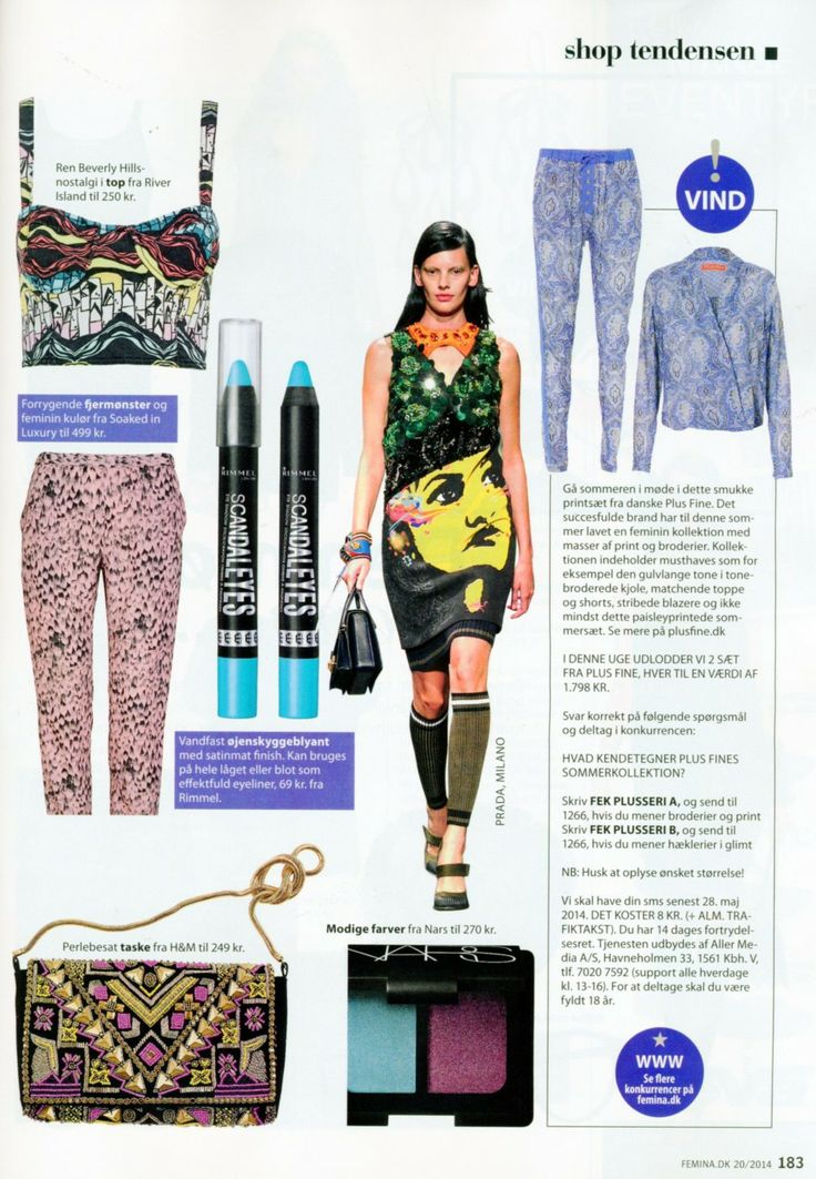 Soaked in Luxury pants in danish magazine Femina