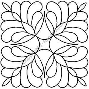 7-1/2in Four Corner Feathers Stencil By Allen, Renae  - 7-1/2in.
