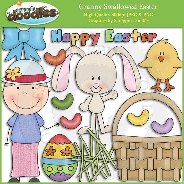 Granny Loves Easter Clip Art Download