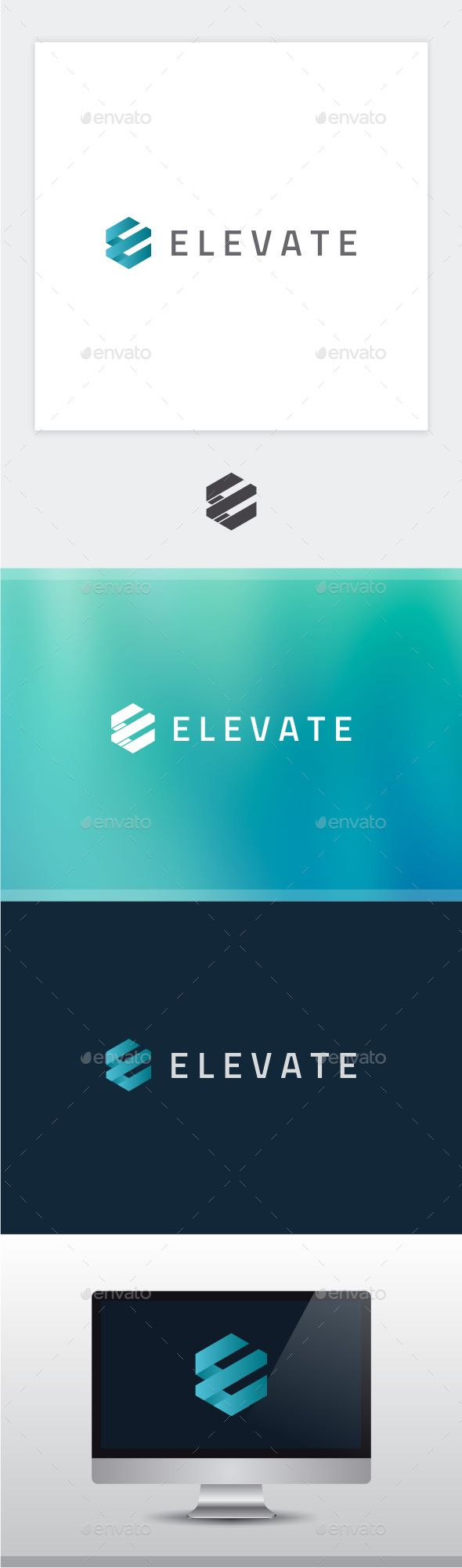 Elevate - Letter E Logo — Photoshop PSD #brand #vector • Available here → https://graphicriver.net/item/elevate-letter-e-logo/15586425?ref=pxcr