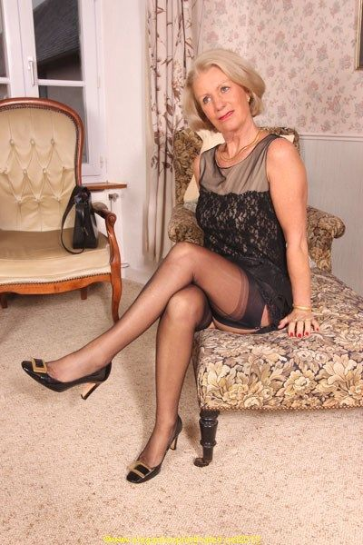 Mature in sexy stockings women