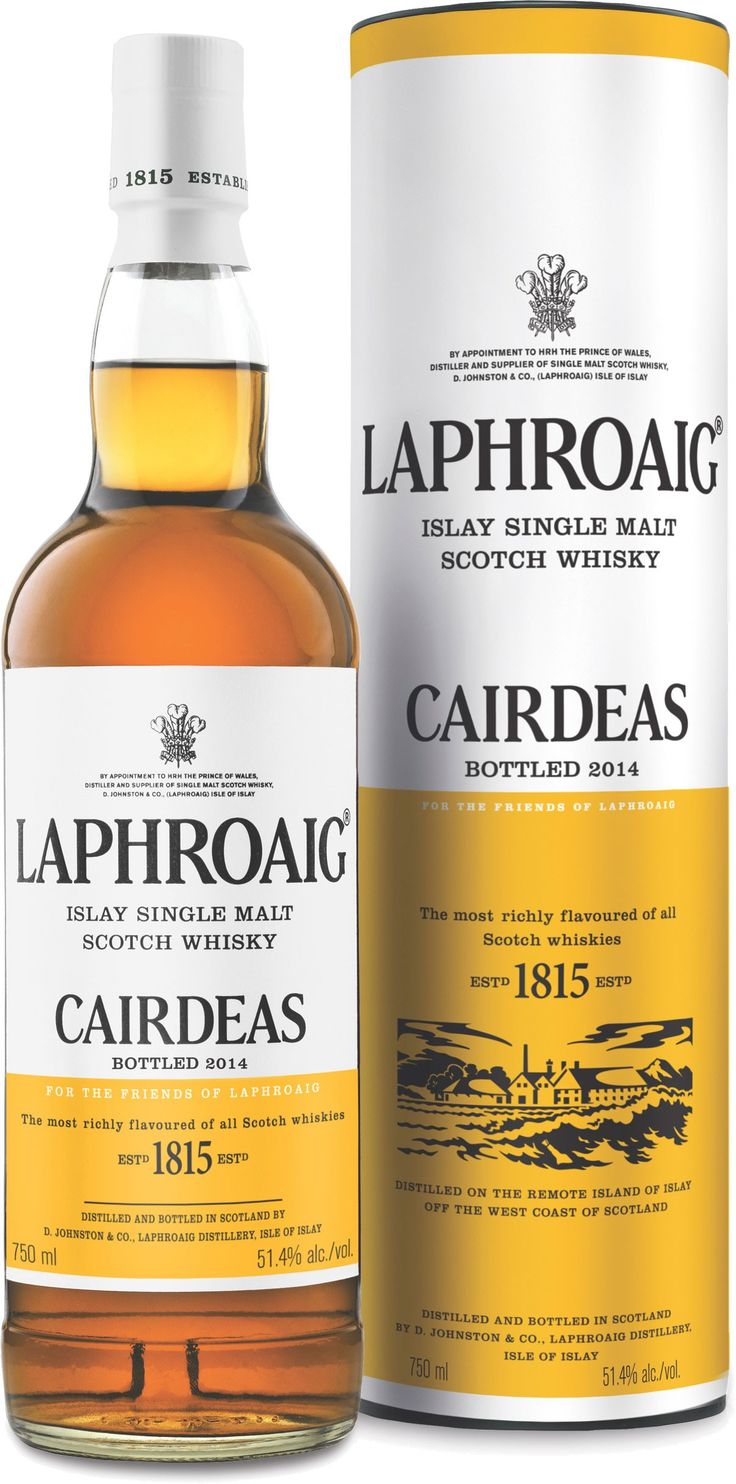 Laphroaig Cairdeas 2014 Edition Islay Single Malt,Initially matured in ex-bourbon cases, this whisky is finished in Amontillado hogsheads for one year.