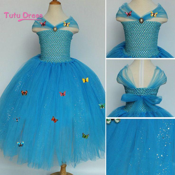 2 t-12 t女の子シンデレラ衣装プリンセスドレス手作り夏チュチュドレス祭誕生日パーティードレス子供ハロウィン衣装