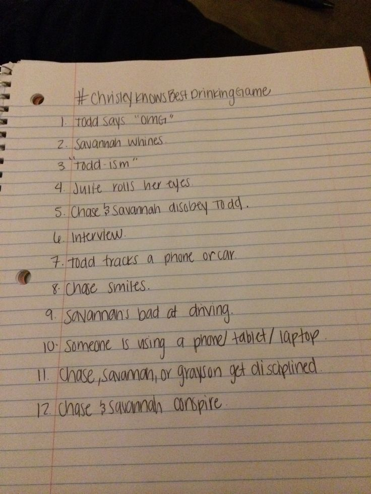 Chrisley Knows Best Drinking Game ;)