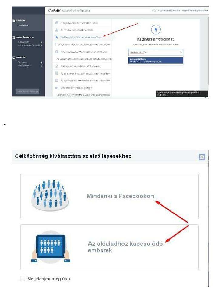 Facebook hirdetés létrehozása lépésről lépésre | Zsolt Pasztor - Academia.edu