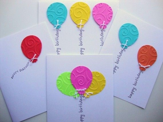 Birthday Cards Balloons Variety Pack Bright by papergirlstudios