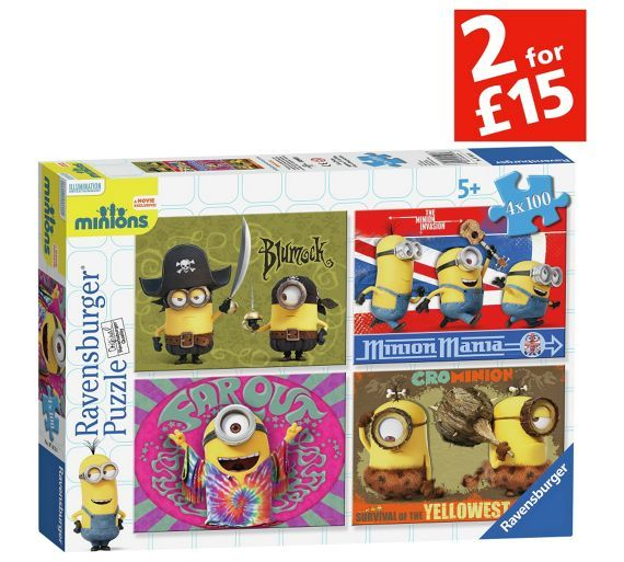 Buy Minions New Design 4 x 100 Piece Bumper Puzzles Pack at Argos.co.uk, visit Argos.co.uk to shop online for Puzzles and jigsaws, Games and puzzles, Toys
