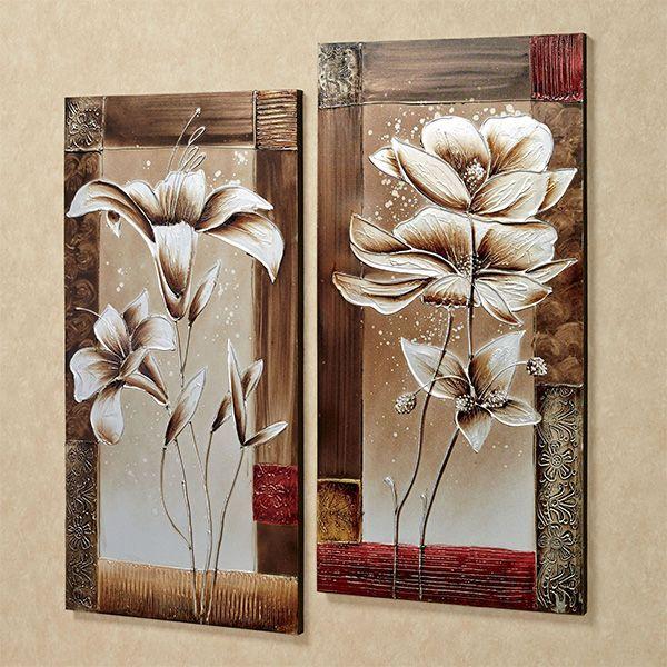Petals Of Spring Floral Canvas Wall Art Set Floral Wall Art Canvases Diy Canvas Wall Art Canvas Wall Art