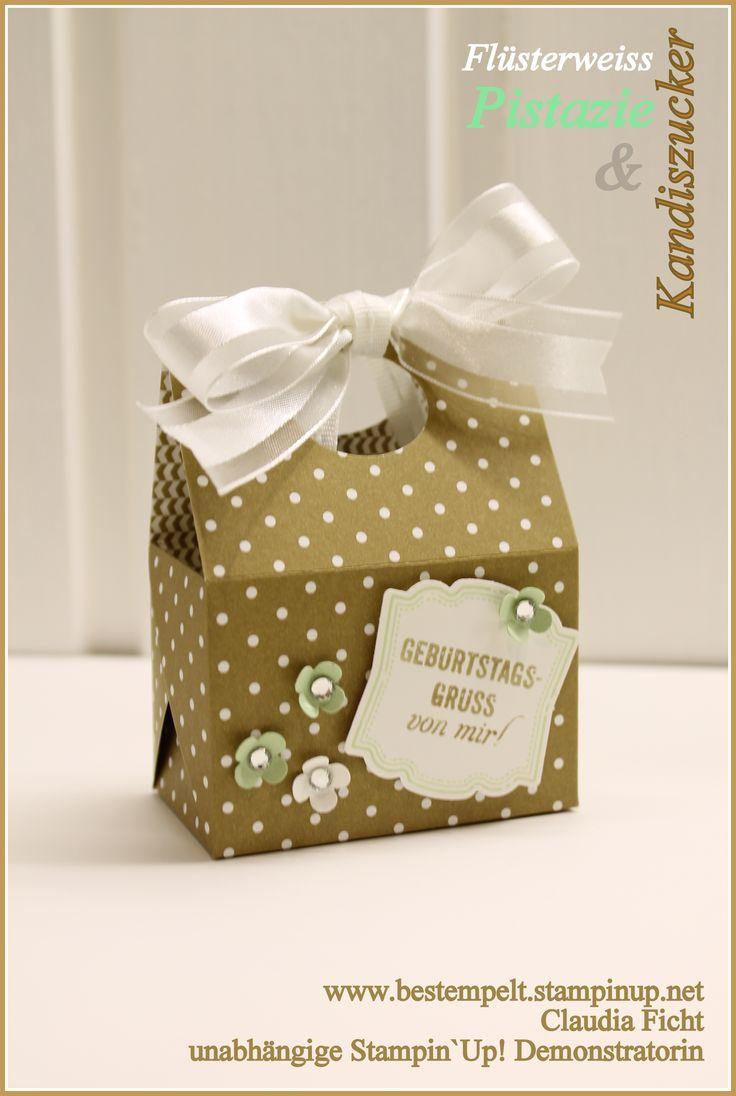 Geschenktasche, Stampin Up!, Kandiszucker, tutorial, Bag