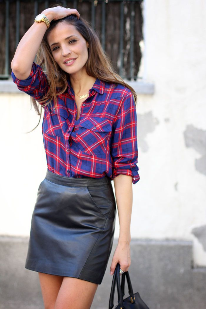 Again with the leather this year! This leather skirt turns a comfy flannel into a sexy flannel. So easy.