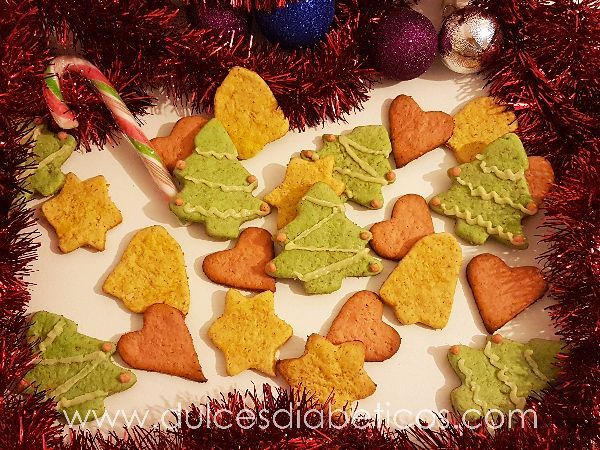 Galletas de Navidad sin azucar para diabeticos