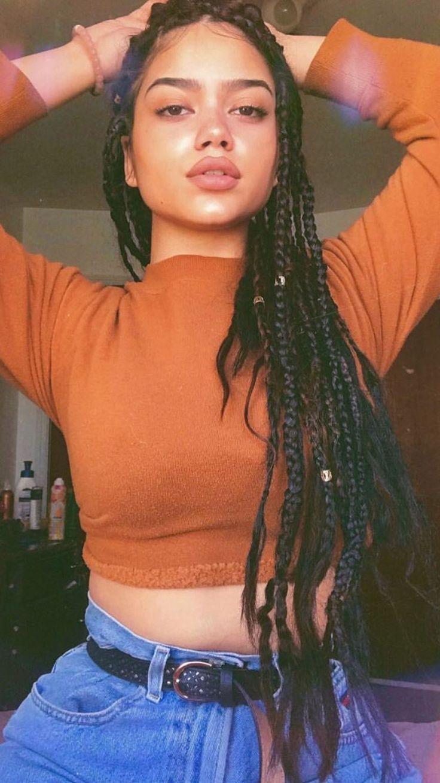 85 Box Braids Hairstyles for Black Women - Hairstyles Trends Box Braids Hairstyles, Protective Hairstyles, Baddie Hairstyles, Mixed Hairstyles, Short Hairstyles, Wedding Hairstyles, Curly Hair Styles, Natural Hair Styles, Pelo Afro