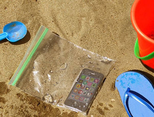 Pro Tip: Keep your cell phone dry at the beach with this!